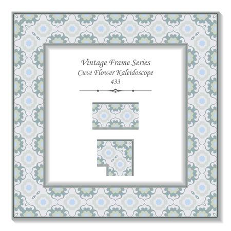 cuve: Vintage 3D frame 433 Cuve Flower Kaleidoscope Illustration