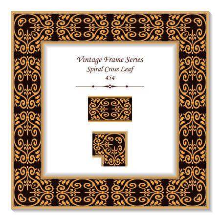 Vintage 3D frame 454 Spiral Cross Leaf