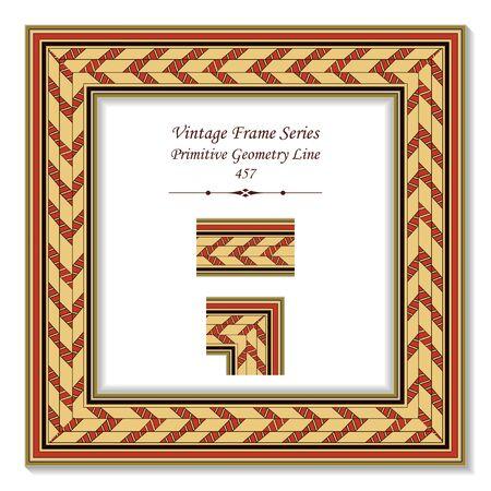 t square: Vintage 3D frame 457 Primitive Geometry Line