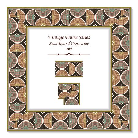 t square: Vintage 3D frame 469 Semi Round Cross Line
