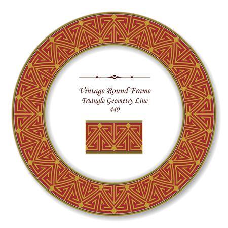 vintage retro frame: Vintage Round Retro Frame Triangle Geometry Line