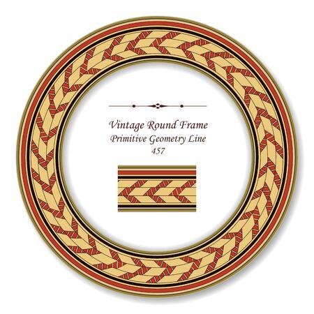 vintage retro frame: Vintage Round Retro Frame Primitive Geometry Line