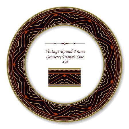 vintage retro frame: Vintage Round Retro Frame Geometry Triangle Line