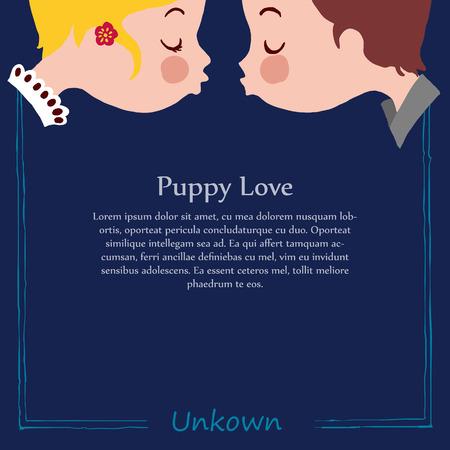 puppy love: Plantilla del perrito amor beso