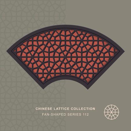 double cross: Fan Shaped Chinese Lattice_112 polygon cross geometry