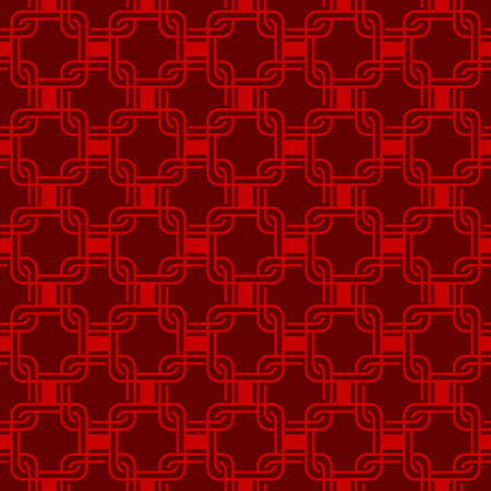 crisscross: Seamless red Chinese style arranged in a crisscross square pattern.