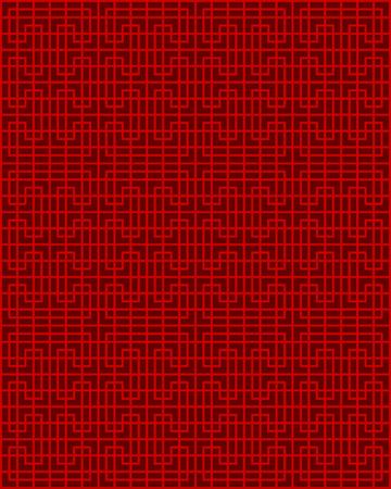 Seamless Chinese window tracery lattice geometry line pattern background.