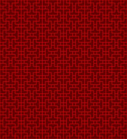 Seamless Chinese window tracery lattice geometry line pattern.