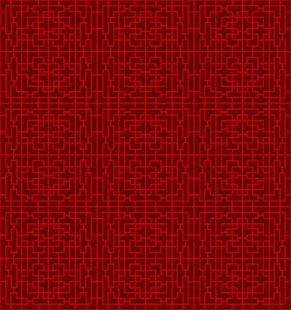 Seamless Chinese window tracery lattice geometry line background.