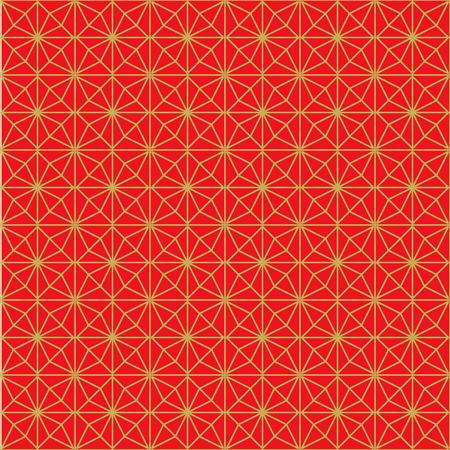 rhomb: Golden seamless Chinese style rhomb flower pattern background.
