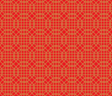 golde: Golden seamless Chinese window tracery lattice polygon geometry pattern background.
