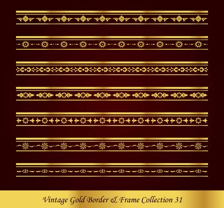 Vintage Luxury Gold Border Frame Collection
