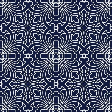 curve line: Seamless Blue Japanese Background Curve Cross Geometry Line