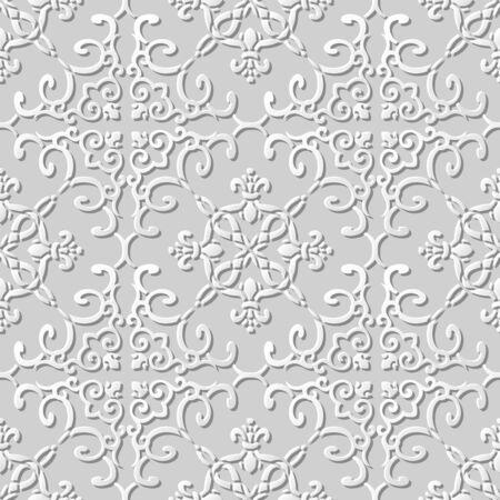 paper chain: 3D paper art pattern curve spiral cross chain