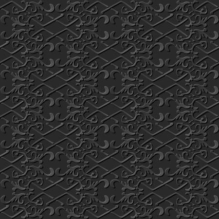 paper chain: 3D paper art pattern check cross spiral chain