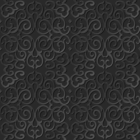 paper chain: 3D paper art pattern round spiral cross chain vine