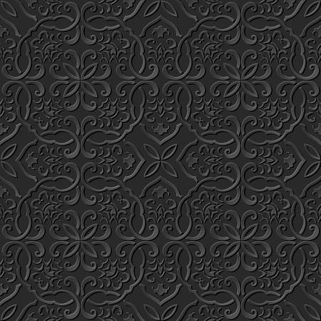 paper chain: 3D paper art pattern polygon curve spiral cross chain