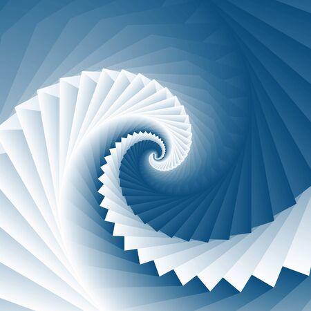 Vortex spiral ocean wave square geometry texture background Illustration