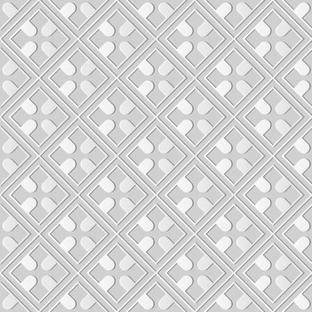 3D paper art square check cross geometry frame