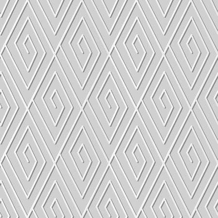 3D paper art check geometry spiral vortex line Illustration