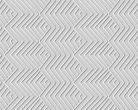 3D paper art geometry check sawtooth cross line