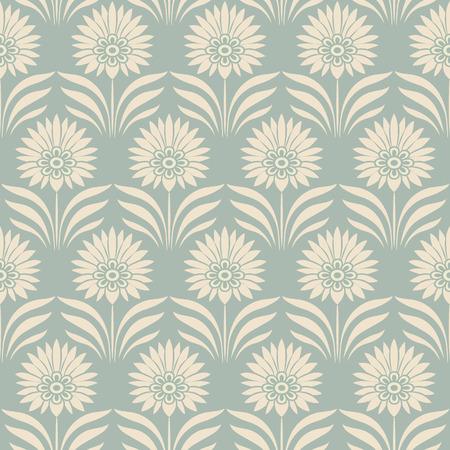 Antique seamless background botanic garden point leaf flower Stock Illustratie