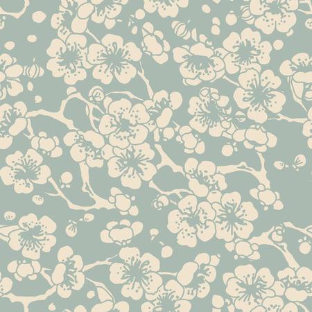 Antique seamless background cross plum blossom 向量圖像
