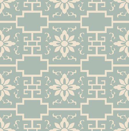 Antique seamless background cross geometry frame flower 向量圖像