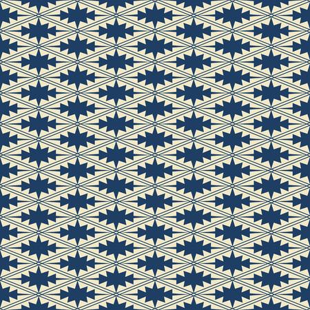 rhomb: Seamless background navy blue rhomb check cross geometry frame kaleidoscope