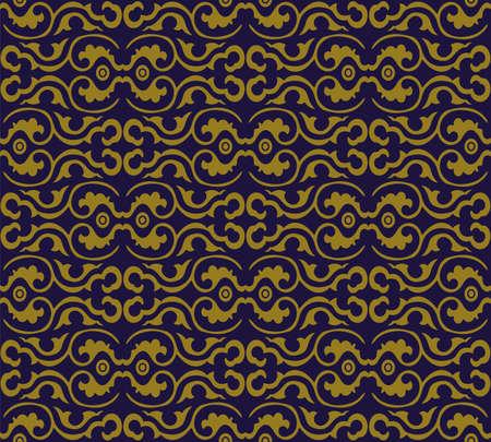 Antique seamless background curve spiral round frame 向量圖像