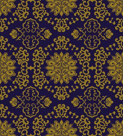 Antique seamless background curve round spiral cross frame flower 向量圖像