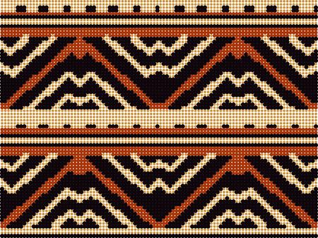 Halftone colorful seamless retro pattern primitive geometry triangle line Illustration