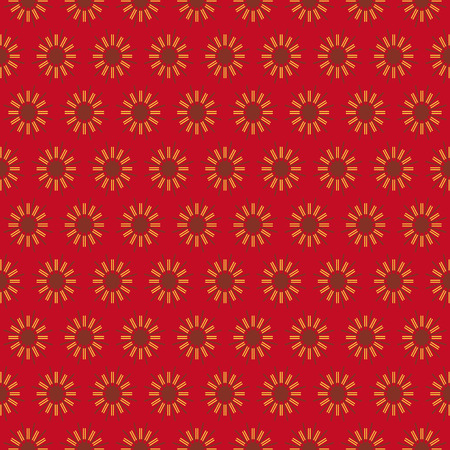 Retro seamless wallpaper background vintage red round geometry spiral line flower Illusztráció