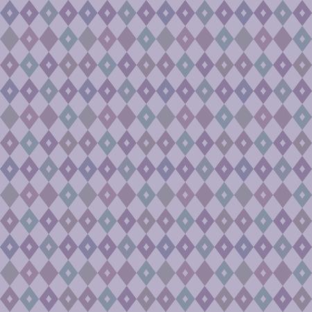 우아한 원활한 빅토리아 벽지 배경 레트로 보라색 다이아몬드 검사 형상 크로스 만화경