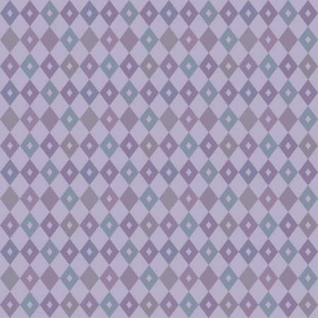 An elegant seamless Victorian wallpaper background retro purple diamond check geometry cross kaleidoscope