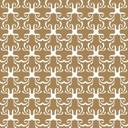 A retro seamless wallpaper background curve geometry cross kaleidoscope 向量圖像