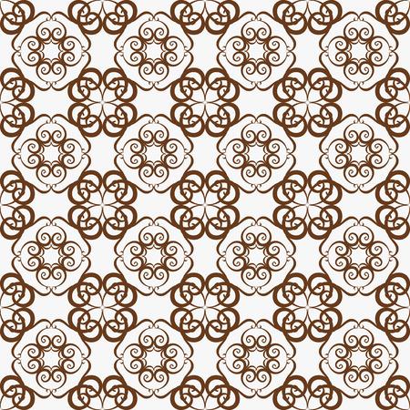 retro seamless wallpaper background vortex spiral curve round cross vine kaleidoscope
