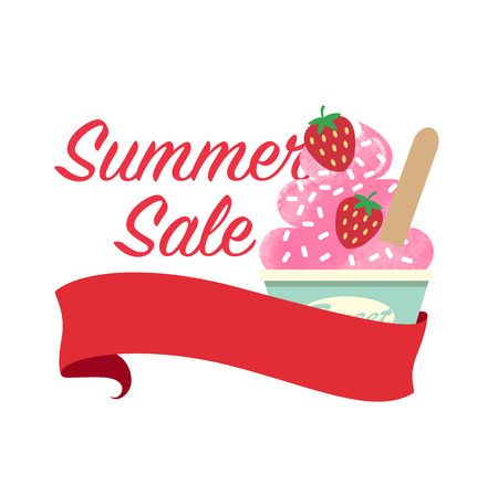 Colorful watercolor texture vector summer sale promotion banner title template