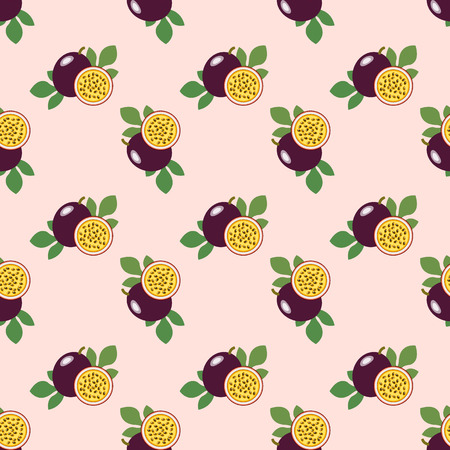 Seamless background image colorful tropical fruit passion fruit
