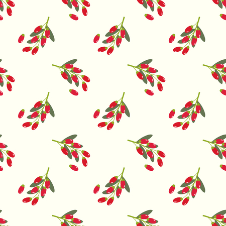 Seamless background image colorful tropical fruit goji berry