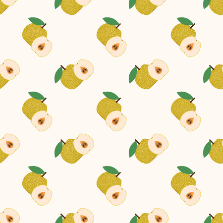 Seamless background image colorful tropical fruit Asian pear Stok Fotoğraf - 81300924