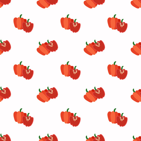 Seamless background image colorful vegetable food ingredient red Scotch bonnet pepper