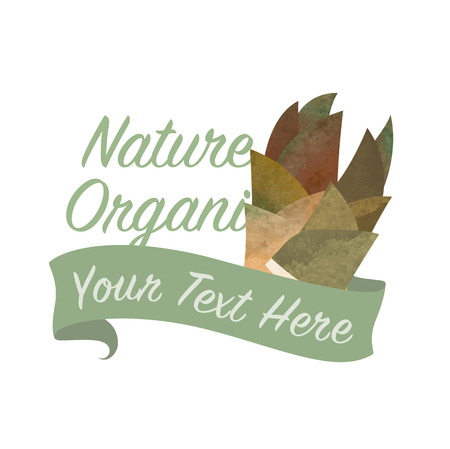 Colorful watercolor texture vector nature organic vegetable banner bamboo shoots