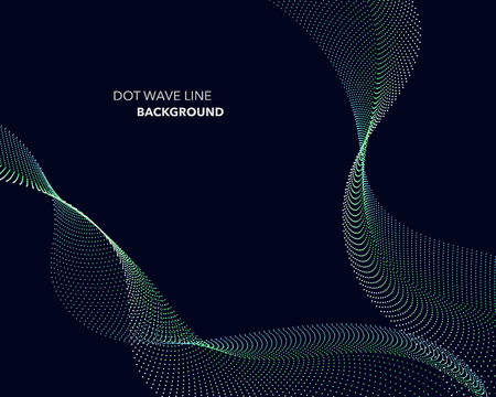 Elegant abstract vector dot wave line futuristic style background template