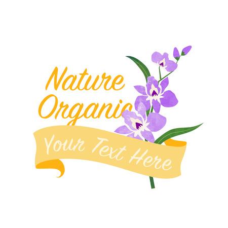 Purple Orchid banner Illustration