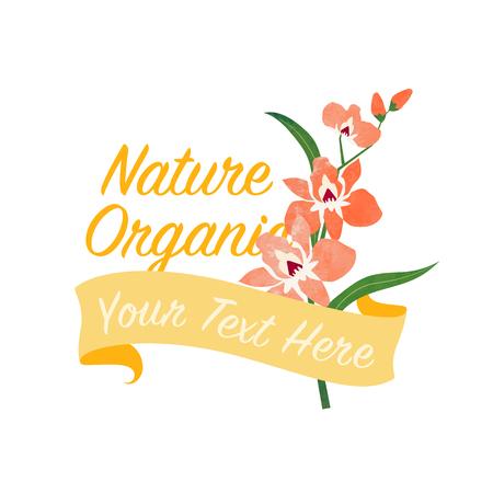 chic: Orange orchid flower banner