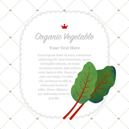 Kleurrijk van het de aard organisch fruit van de waterverftextuur memorandumkader mangold Zwitsers snijbietblad