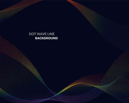 rainbow: Elegant abstract vector spectrum rainbow gradient wave dot line futuristic style background Illustration
