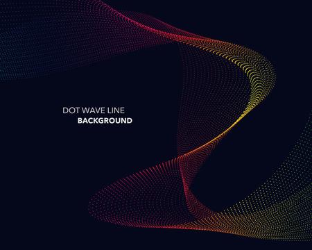 Elegant abstract vector spectrum rainbow gradient wave dot line futuristic style background Illustration