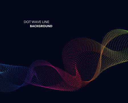 twist: Elegant abstract vector spectrum rainbow gradient wave dot line futuristic style background Illustration